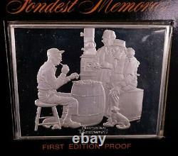 Norman Rockwell Sterling Silver Fondest Memories 10 Bar Complete Set
