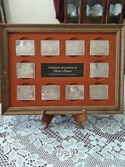 Norman Rockwell's 1973 Fondest Memories 10 Ingots, 31 Troy Ounces Sterling Sil