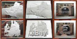Norman Rockwell's Fondest Memories 10 Sterling Silver Bar Set Franklin Mint