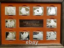 Norman Rockwell's Fondest Memories Sterling Silver Proof Ingots Franklin Mint