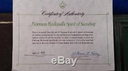 Norman Rockwell`s Spirit Of Scouting 12 Sterling Silver Medals Set Franklin Mint