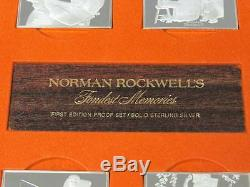 Norman Rockwells Fondest Memories Sterling Silver Bar Set 1st Edition 31.25 oz t