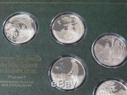 Norman Rockwells Medallic Tribute to Robert Frost Sterling Silver Medal Set
