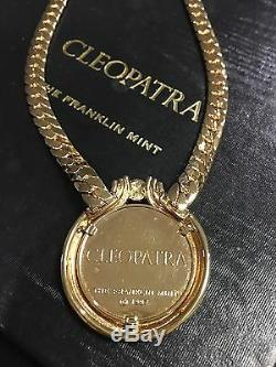 ONE of a Kind RARE Vintage 80's Franklin Mint CLEOPATRA Necklace $1,500