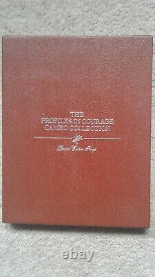 PROFILES IN COURAGE CAMEO COLLECTION Limited Edition STERLING SILVER COINS Book