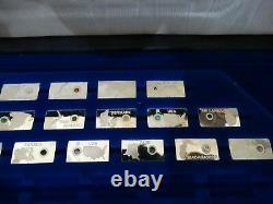 Partial Set 26 Sterling Silver Franklin Mint Gemstones Of The World Box & COA