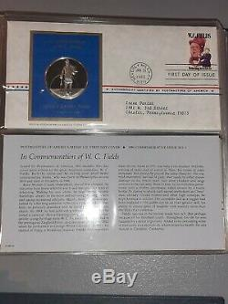 Postmasters of America Medallic First Day Covers 1979-1980. Sterling Silver Coins