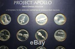 Project Apollo Franklin Mint Set 20 Sterling Silver Medals Apollo 13 Flown Metal