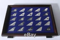 RARE Airlines of the World Sterling Silver Tail Emblems Collection Franklin Mint
