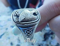 RARE Georg Jensen Men's Eagle Ring For The Franklin Mint Sterling Silver Size 16