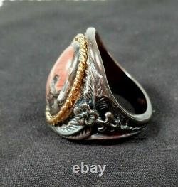 RARE John Wayne Western Heritage Sterling Ring By Franklin Mint The Dukes Ring