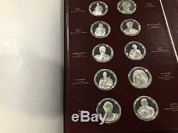 RARE RED COVER The Genius of Michelangelo 60 Sterling Silver Medals Franklin