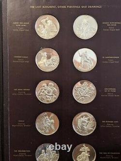 RARE The Genius of Michelangelo Franklin Mint Sterling Silver MEDALLIONS