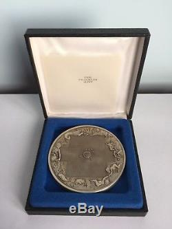 Rare 1974 Franklin Mint Sterling Silver Calendar Art Medal COA 298 Grams