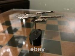 Rare 1993 Franklin Mint Sterling Silver Star Trek USS Enterprise NCC-1701 (TOS)