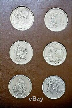 Rare Franklin Mint Old Testament Bible Monti 24 Sterling Silver Medals 46.47 Oz