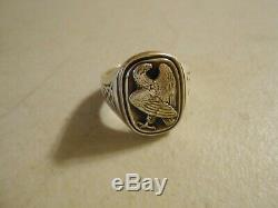 Rare Georg Jensen Sterling Silver Eagle Ring From Franklin Mint