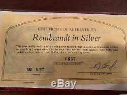 Rembrandt in Silver Wellings Mint 50 Sterling Silver Medals, 2 oz each