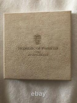 Republic Of Panama 1974 Proof 20 Balboas Coin 2000 Grains Sterling Silver