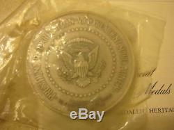 Richard M Nixon Presidential Inaugural Medal Sterling Silver 1973