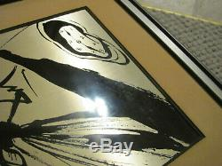 Salvador Dali Etched Sterling Silver, Sombra Sobre La Playa 1977 Franklin Mint