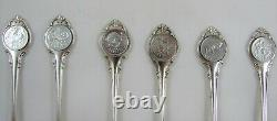 Set of 12 Sterling Silver Zodiac Spoons With Signatures