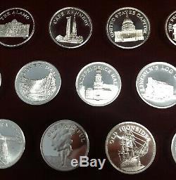 Set of 20 1 oz Silver Rounds Great American Landmarks Franklin Mint Sterling
