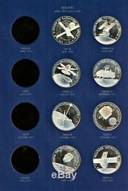 Set of 20 Sterling Silver proof America in Space medals Franklin Mint