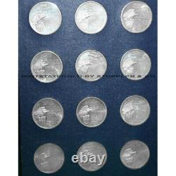 Set of 36 1970 Franklin Mint Sterling Silver Presidential Commemorative Medals