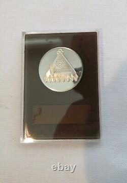Set of 4 Franklin Mint Sterling Silver Proof 1973 Holiday Medals Limited Edition