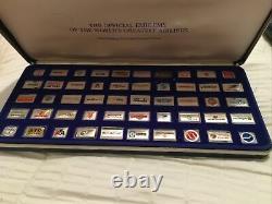 Set of 50 Franklin Mint Sterling Silver Worlds Greatest Airlines Emblems 1981
