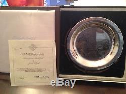 Set of five etched sterling silver plates by James Wyeth. Franklin Mint