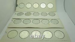 Silver 1969 American States of the Union Set 50 Coin Medals Franklin Mint 700 g