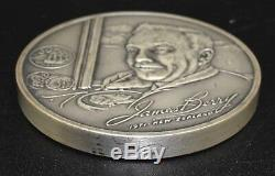 Sir James Berry (1906-1979) 1971 Sterling Silver Art Sculpture Franklin Mint