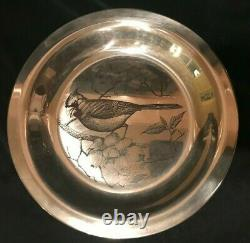 Solid Sterling Silver Plate The Cardinal By Richard Evans Younger Franklin Mint