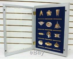 Star Trek Franklin Mint Insignia Collection 12 Sterling Silver Badges Set w CASE