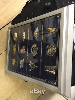 Star Trek Insignia. 925 Sterling Silver Series With Display Franklin Mint 1992