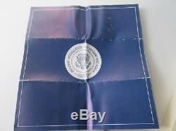 Sterling Silver 1973 Inaugural Proof Medal Nixon Agnew Franklin Mint Box Papers