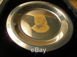 Sterling Silver. 925 1973 John Quincy Adams US President Solid 197.3 grams Plate