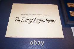 Sterling Silver Bill of Rights Ingot Proof Set 1975 Franklin Mint withCOA & Insert