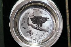 Sterling Silver Bird Plate American Bald Eagle By Richard Younger/franklin Mint