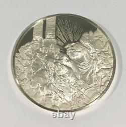 Sterling Silver Christ Driving The Money Changers Out Of The Temple Coin