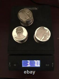 Sterling Silver Coins 55 Ounces. 3 Lbs, 7oz. 925 Silver Franklin Mint