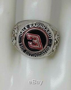 Sterling Silver Dale Earnhardt The Intimidator Ring #3 Size 10