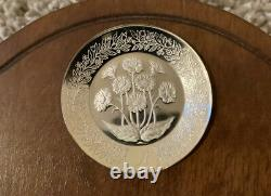 Sterling Silver Floral Alphabet Plates by Franklin Mint 26 mini-plates 274 Grams