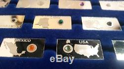 Sterling Silver Franklin Mint Gemstones of the World Mint Partial Set (59/63)