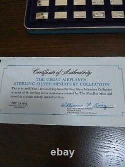 Sterling Silver- Franklin Mint Great Airplanes Miniature Collection