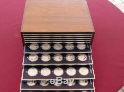 Sterling Silver Franklin Mint History of the United States huge set 200 TOZ