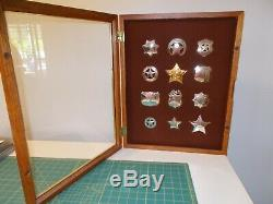 Sterling Silver Franklin Mint Old West Sheriff Badge Collection