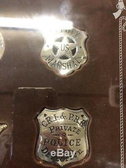 Sterling Silver Franklin Mint Old West Sheriff Badges